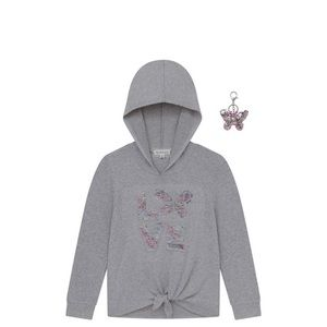 Nwt Love Butterfly Gray Hoodie